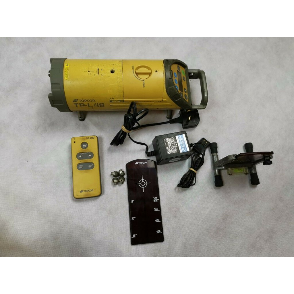 Reconditioned Topcon Tp L4b Red Beam Pipe Laser